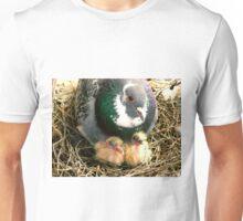 Parent pigeon and hatchlings  Unisex T-Shirt