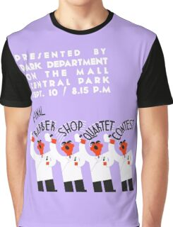 Retro style funny barber shop quartet song contest Graphic T-Shirt