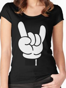 COOL FINGERS Women's Fitted Scoop T-Shirt