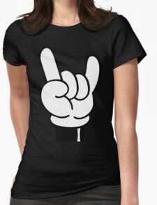 COOL FINGERS Womens Fitted T-Shirt