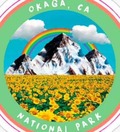 OKAGA NATL' PARK STICKER LIME GREEN Sticker