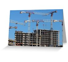 Construction skyscrapers  Greeting Card