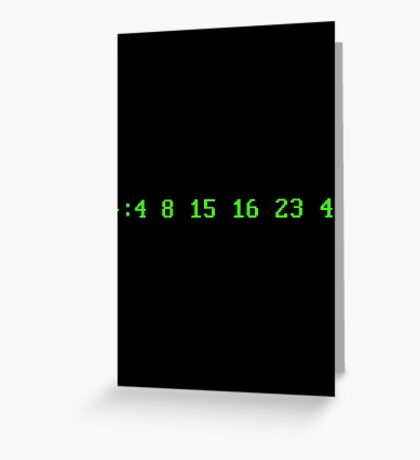 Hurley's Numbers - DOS Font Greeting Card