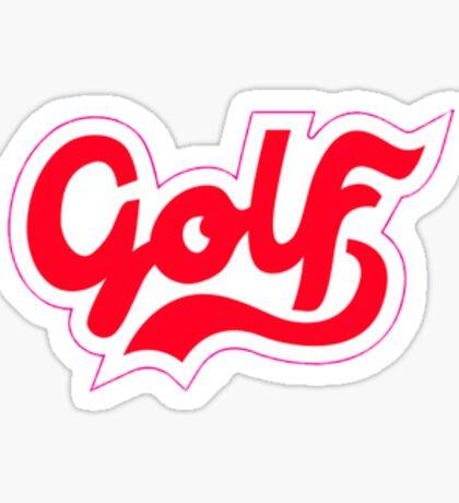 GOLF CURSIVE STICKER RED/WHITE Sticker