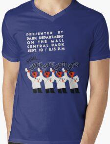Retro style funny barber shop quartet song contest Mens V-Neck T-Shirt