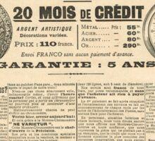 1900 French advert Best Watch in the World  Sticker