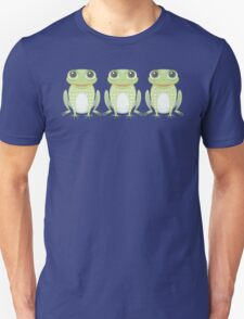 Happy Triplet Frogs Unisex T-Shirt