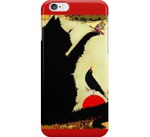 Black Bird and The  Red Ball iPhone Case/Skin