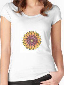 Sunrise Mandala Women's Fitted Scoop T-Shirt