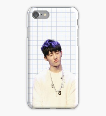 Hanbin with blue (phone case) iPhone Case/Skin