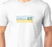Beach huts Unisex T-Shirt
