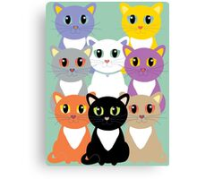 Only Eight Cats Canvas Print