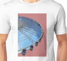 The Echo Wheel in red Unisex T-Shirt