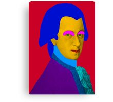 Mozart pop Art Canvas Print