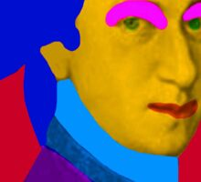 Mozart pop Art Sticker