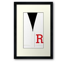 Grease Danny Sweater Framed Print