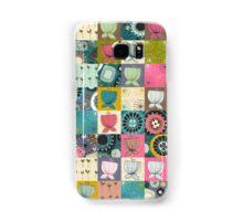 BLOOMS patchwork Samsung Galaxy Case/Skin