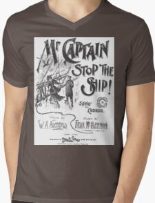 Mr. Captain Stop The Ship! Mens V-Neck T-Shirt