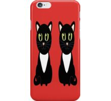 Two Black and White Cats iPhone Case/Skin