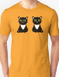 Two Black and White Cats Unisex T-Shirt