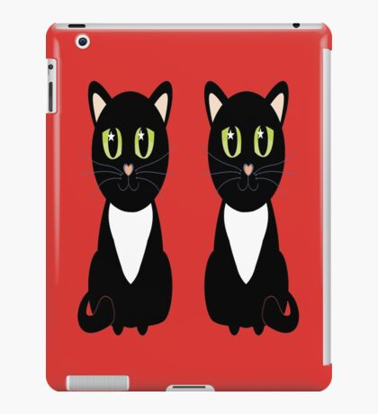 Two Black and White Cats iPad Case/Skin