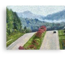 Ride On Into Franklin On The Merle Dryman Parkway Canvas Print
