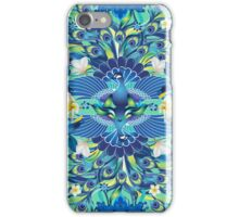 Blue Peacock Love iPhone Case/Skin