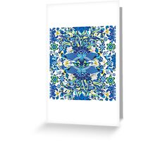Blue Peacock Love Greeting Card