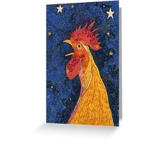 THE ROOSTER THAT CROWED IN THE MORN Greeting Card