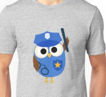 Professions Owl Police Officer Policeman Unisex T-Shirt