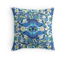 Blue Peacock Love Throw Pillow