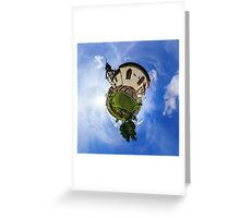 Planet St.Sebastien - Miniature planet of Chapelle Saint Sebastien in Dambach-la-ville, France.  Greeting Card
