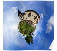 Planet St.Sebastien - Miniature planet of Chapelle Saint Sebastien in Dambach-la-ville, France.  Poster