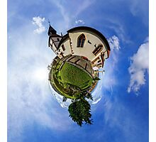 Planet St.Sebastien - Miniature planet of Chapelle Saint Sebastien in Dambach-la-ville, France.  Photographic Print