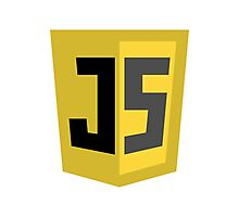 JavaScrip Logo Photographic Print