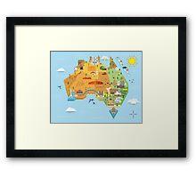 Graphic Map of Australia Framed Print