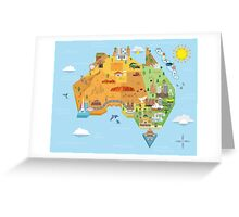 Graphic Map of Australia Greeting Card