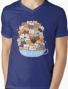 Cup of Mews - Cats Mens V-Neck T-Shirt
