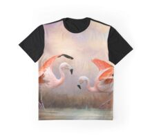 Dance of the Flamingos Graphic T-Shirt