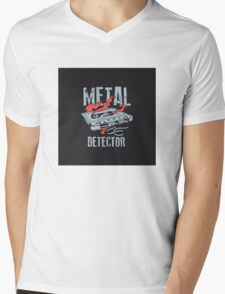 Metal Dectector Flaming Audio Cassette Mens V-Neck T-Shirt
