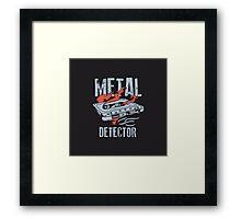 Metal Dectector Flaming Audio Cassette Framed Print