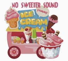 No Sweeter Sound Ice Cream Truck Kids Tee