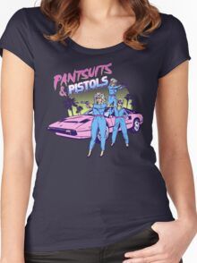 Pantsuits and Pistols Women's Fitted Scoop T-Shirt