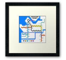 Vancouver Transit Network Framed Print