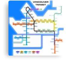 Vancouver Transit Network Metal Print