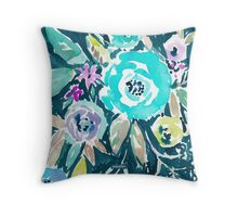 BEAUTY AND THE BADASS FLORAL Throw Pillow