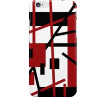 Red, Black, and White Design iPhone Case/Skin