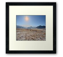 sky and mountains Framed Print