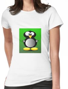 Cute Penguin Womens Fitted T-Shirt