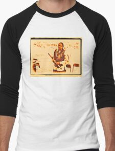 """""""American Native Indian from the Crow Nation, version 2""""... prints and products Men's Baseball ¾ T-Shirt"""